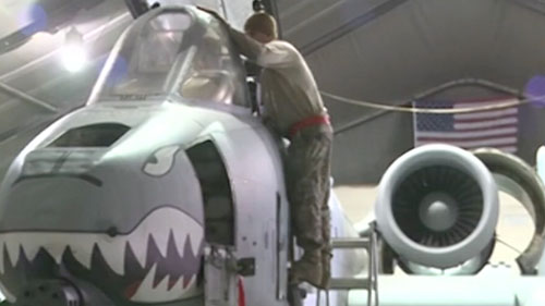 Some Arizona lawmakers are hopping mad about the Pentagon's plan to retire the A-10 Warthog attack jet. The proposal could be a blow to Davis-Monthan Air Force Base in Tucson. Cronkite News reporter <b>Mackenzie Scott</b>  reports.